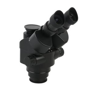 Image 4 - 2020 Black 7X 45X 3.5X 90X Simul Focal Trinocular Microscope Zoom Stereo Microscope Head + 0.5x 2.0x Auxiliary Lens