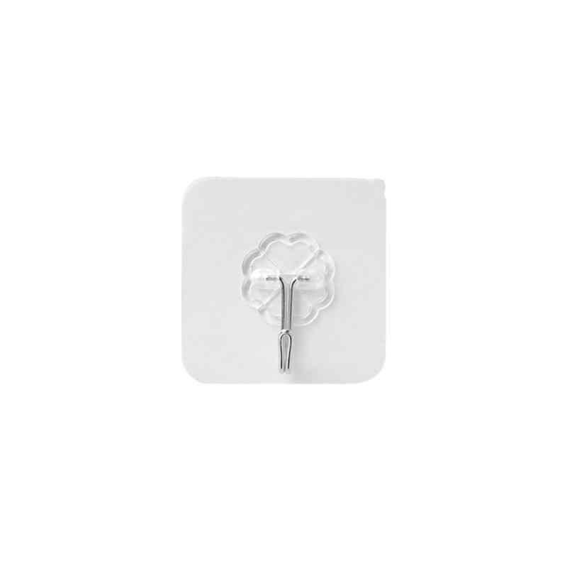 1 Pc Super Kuat Dinding Kait Transparan Pengisap Gantungan Dinding Pengisap Gantungan Perekat Tahan Air untuk Kamar Mandi Dapur