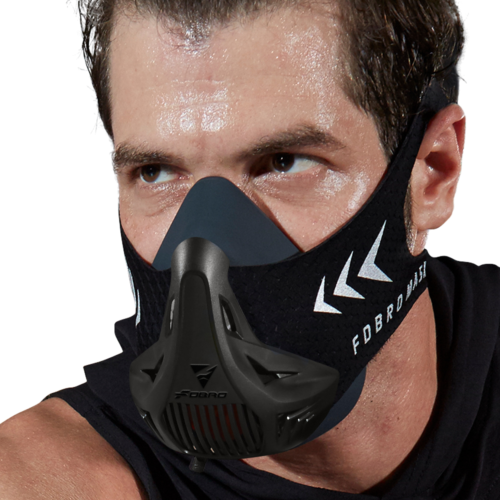 FDBRO Sport MASK Training Running Mask Pro Fitness Gym Workout Cycling Elevation High Altitude Training Conditioning Sports Mask