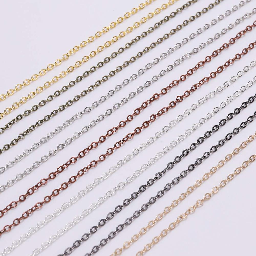 5 m/lot Gold/Bronze Plated Necklace Chain For Jewelry Making Findings DIY Necklace Chains Materials Handmade Supplies 3
