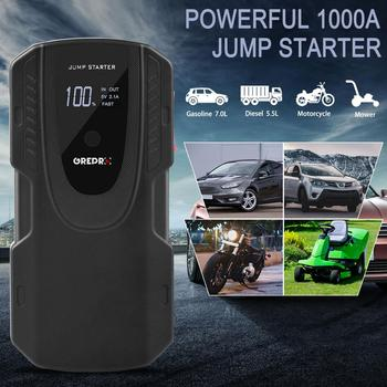 GREPRO Auto Starting Device 1000A Car Jump StarterBooster Power Bank Battery 12V Charger Emergency for 6.0LCar Battery Starter image