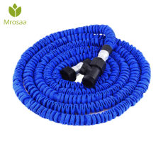 Hot Car Magic-flexible hose Expandable Garden Hose reels garden water hose for watering connector Blue 25FT-100FT EU/US Standard(China)