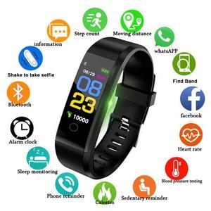 Image 2 - 115plus Bracelet Heart Rate Blood Pressure Smart Band Fitness Tracker Smartband Bluetooth Wristband fitbits Smart Watch Men