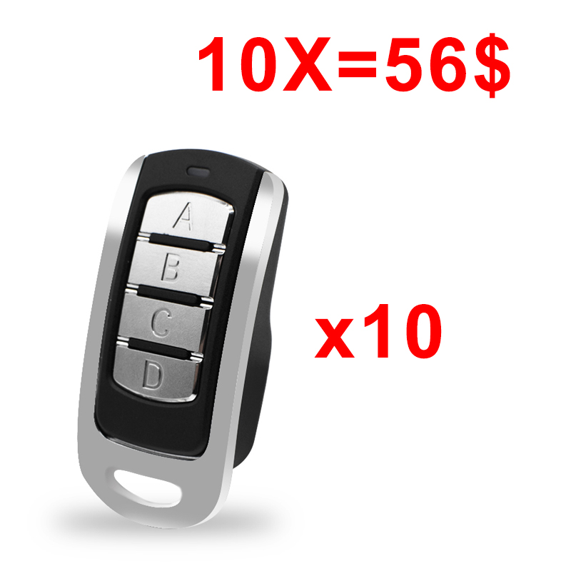 10pcs Auto Scan 433.92mhz Remote Control 287-900MHz Duplicator Garage Command Gate Door Remote Controller Rolling Code