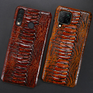 Image 3 - Leather Phone Case For Huawei Honor 30 30S X10 20 20i 10 10i 9 8 Lite 9X 8X Max 7X 7A V30 Pro V20 V10 Ostrich Foot Texture Cover