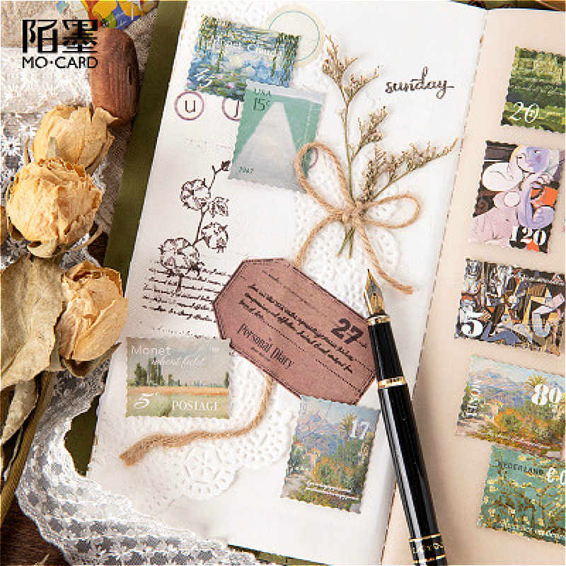 45 Uds. Kawaii pintura sello álbum Washi cinta adhesiva brillo práctico DIY pegatina Scrapbooking etiqueta adhesiva cinta adhesiva