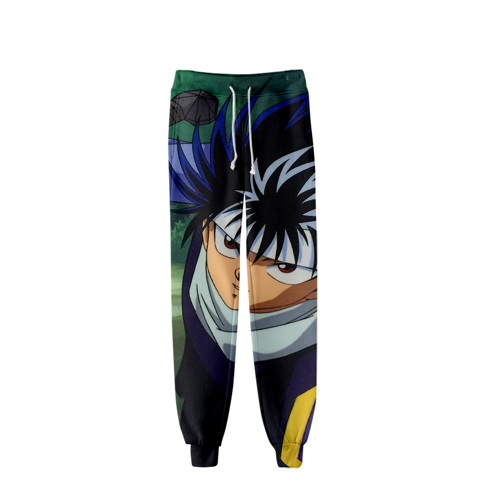YuYu Hakusho Anime Winter Sports Pants Unisex Role-playing Casual Thin Section Plus Velvet Thickening Hip Hop Pants