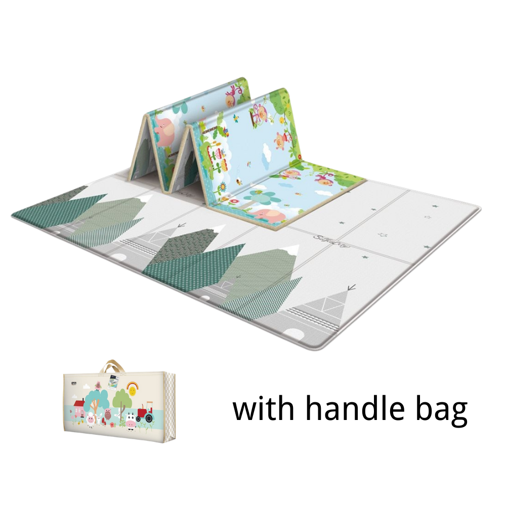 Children's double-sided waterproof non-slip crawling mat Household foldable baby crawling mat 200*180*1