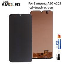 ЖК дисплей 64 дюйма a20 для samsung a205 сменный amoled incell