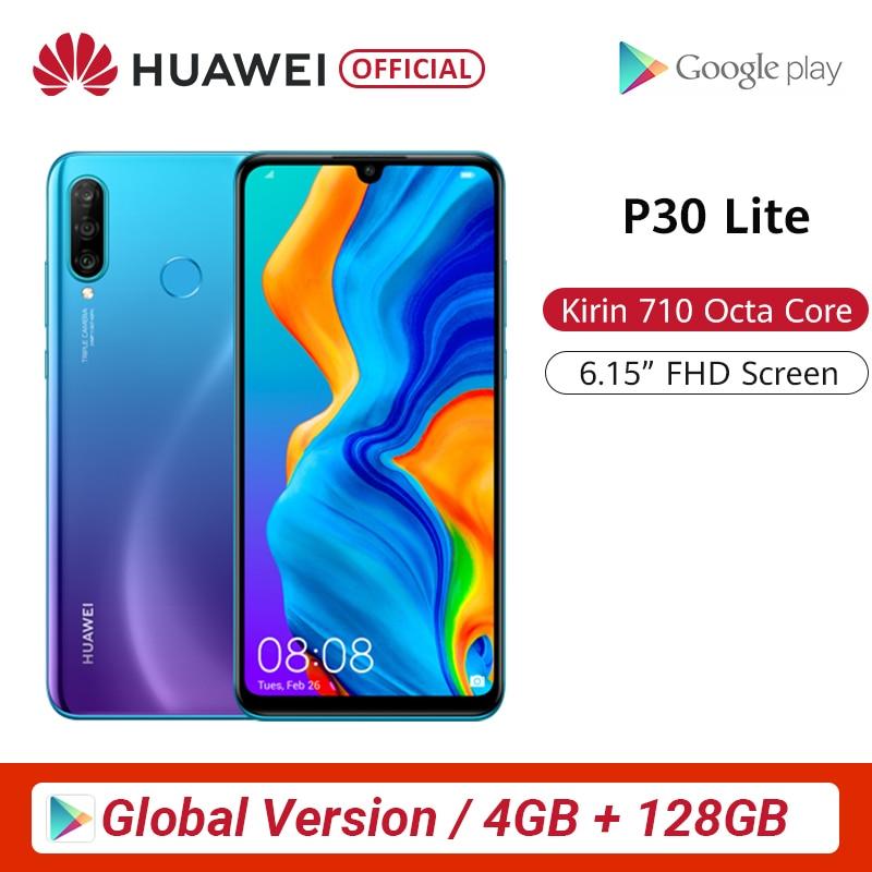 Глобальная версия huawei P30 Lite 4GB 128GB смартфон 24MP тройной Камера s 32MP Фронтальная камера 6,15 ''Full Экран Kirin 710 18 Вт QC