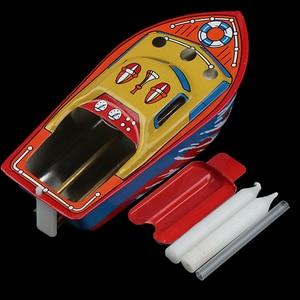 Bote de hierro de hojalata con vela de vapor para niños, juguete de piscina de agua europea, juguete flotante, regalo de cumpleaños, 1 ud.