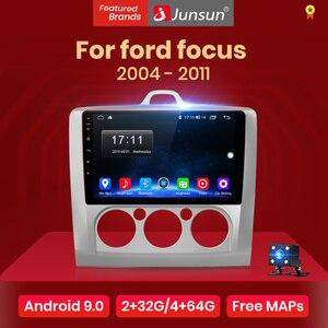 Junsun V1 2G+32G Android 9.0 DSP Car Radio Multimedia Video Player Navigation GPS For ford focus 2 3 Mk2/Mk3 hatchback 2 din DVD(China)