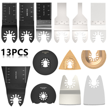 13pcs Power Oscillating Tool Blades Multitool Accessories Saw Quick Release Kit for Sanding Grinding Cutting