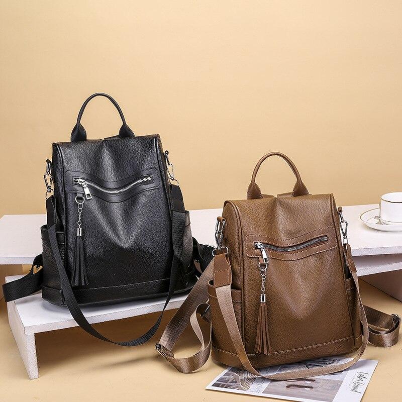 2020 новый рюкзак женский корейский стиль персонализированный Универсальный меховой шар большая Вместительная дорожная сумка легкая водонепроницаемая Студенческая-2