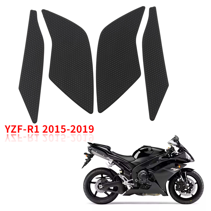 Motorcycle Tank Traction Pad Grips Rubber Gas Tank Decals Knee Protector for Yamaha enlarge