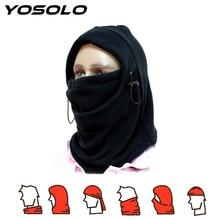 YOSOLO חם מלא פנים מסכת כיסויי ראש חורף כובע אופנוע אופניים בימס גרב הוד צמר מסכת וצוואר כיסוי עיצוב