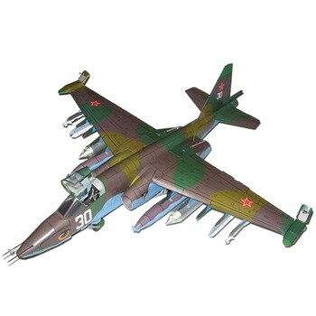 47*43cm Sukhoi Su-25 Frogfoot avion de chasse bricolage 3D papier carte modèle de construction ensembles jouets éducatifs modèle militaire 1:33
