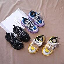 Filles chaussures pour enfants garçons baskets 2020 enfants automne Sneaker en caoutchouc semelle chaussures décontractées en enfants filles mélanger couleur Sneaker