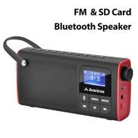 Altoparlante Bluetooth Radio FM portatile Avantree SP850 e scheda SD 3 in 1, MP3 con presa per cuffie