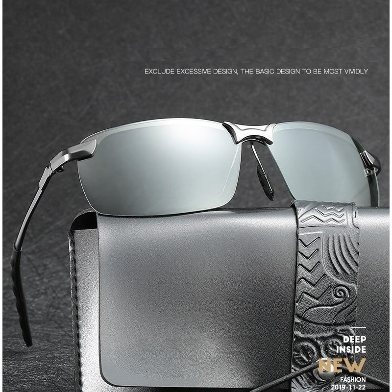 Occhiali da sole fotocromatici uomo polarizzati guida camaleonte occhiali uomo cambia colore occhiali da sole visione notturna occhiali da guida 2
