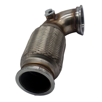 """2.5"""" V-Band Downpipe Low Profile 90Degree W/ Flex Bellows Down-pipe For Car"""