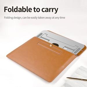Image 5 - M2/Z2/H2 Silber Aluminium Laptop Stand Tablet Universal für Apple MacBook Air Pro 11 15 zoll folding Einstellbare Büro Notebook