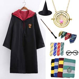 Cosplay Gryffindor Costume Potter Necklace Hermione School Uniform Ravenclaw Hufflepuff Slytherin Robe Scarf Haloween Costumes(China)