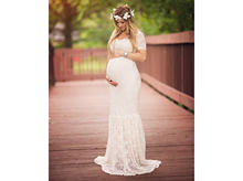 2020Mermaid Maternity Dresses Photography Props Sexy Lace Maxi Maternity Gown For Photo Shoots Women Pregnancy Dress Clothes(China)