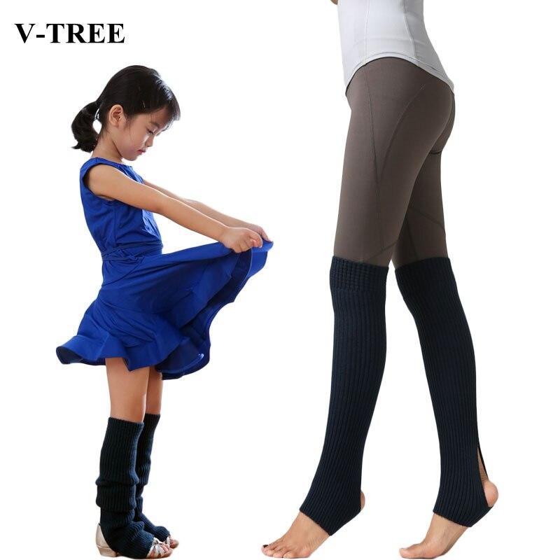Adult Children Leg Warmers Girls Ballet Dance Socks Children's Knee Pad Yoga Latin Foot Socks Kids Sports Leg Warmers