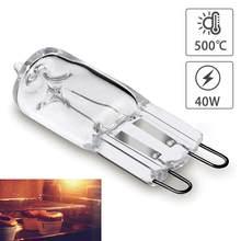 2 pces lâmpada g9 de alta temperatura do bulbo do forno do bulbo g9 lâmpada de iluminação 110v-220v 40w 500 graus