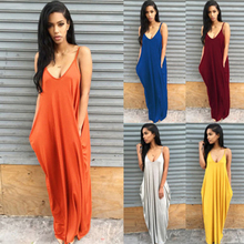 2019 Spring and summer new style Sexy halter dress Beach Irregular suspender Deep V low-cut beach