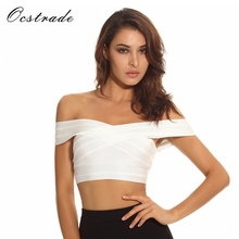 Bandage-Top Festival White Sexy Women Summer Ocstrade High-Quality 10th Anniversay Big-Sale