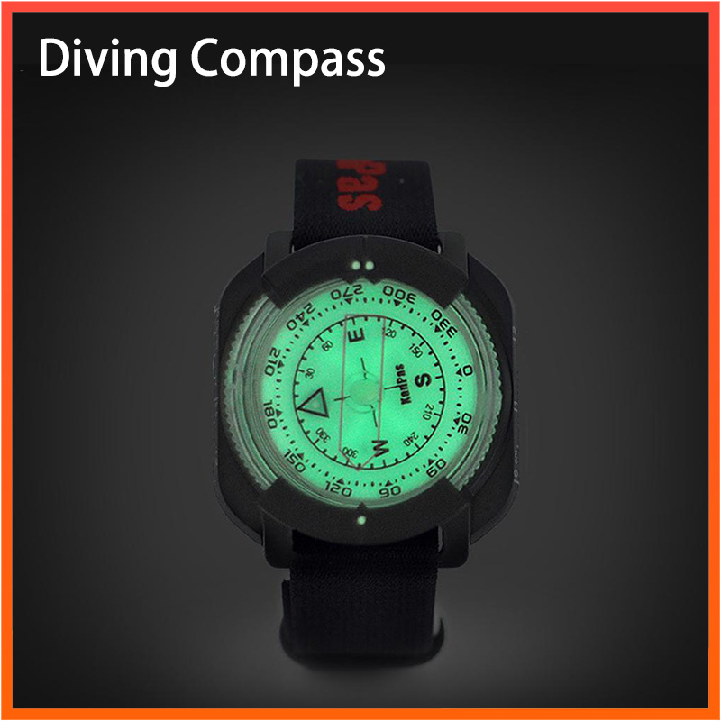 Outdoor Compass Professional 60M /197Ft Diving Compass Waterproof Navigator Digital Watch Scuba Compass For Swimming Diving