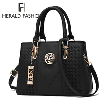 New Casual Embroidery Shoulder Bag Fashion Solid Color Wild Messenger Brand Female Totes Crossbody Bags Women Leather Handbags