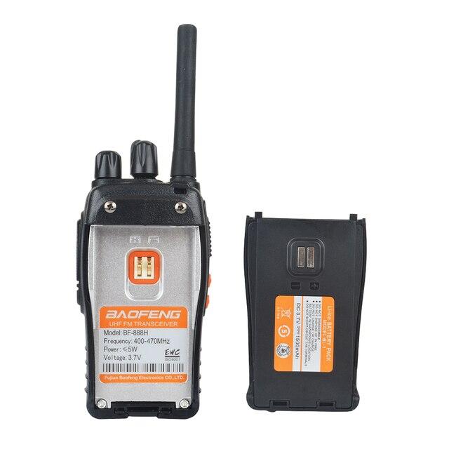 2 قطعة/زوج USB شاحن اسلكية تخاطب Baofeng BF-888H UHF 400-470MHz 16CH VOX المحمولة اتجاهين راديو bf-888h 3