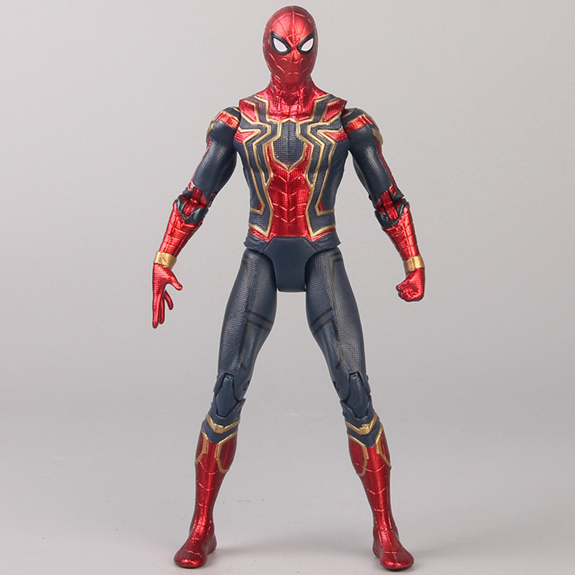 17cm Avengers Super Hero Spider Man PVC Action Figure Toys Spiderman Dolls Joint Movable Spider-man Colllectible Model Toys Gift