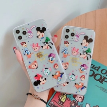 Xwmeikai Soft Transparent TPU Cartoon Mouse Phone Case For Iphone 11 Pro Max 6 6s 7 8 Plus Xs X Xr Ultra-thin silicone Coque