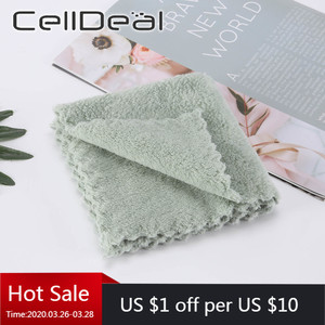 Cleaning rag absorbent and lint-free kitchen oil-free wipe table towel household dishwashing scouring pad cosas de cocina