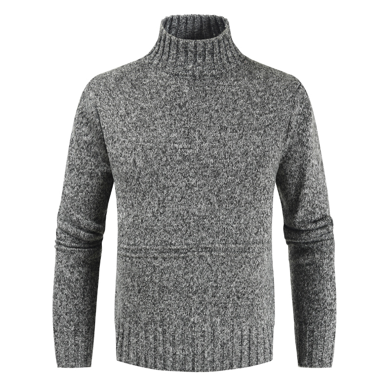 2019 Winter Mens Turtleneck Men's Sweater Solid Slim Fit Knitted Pullovers Men Fashion Casual Sweater Men