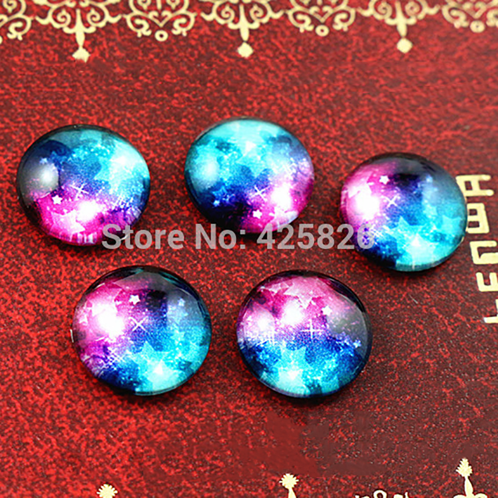 Hot Sale 20pcs 12mm Handmade Photo Glass Cabochons (Nebula)  (E2-12)