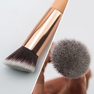 Image 3 - BEILI foundation make up brushes Flat Contour Cream Powder Blush Face shape Single Synthetic Hair Black/Pink Makeup brushes