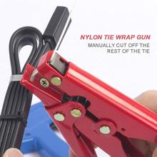 Automatic  Tension Nylon Zip Cable Tie Gun High Carbon Steel Clamp Pliers Portable Fastening Strapping Cutting Gadgets