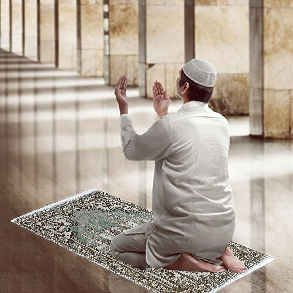 Image 3 - Worship Mats With Tassel Rug Prayer Blanket Ethnic Style Carpet  Living Room Floor 65 X 110 Cm Soft Decoration Rectangle MuslimRug   -