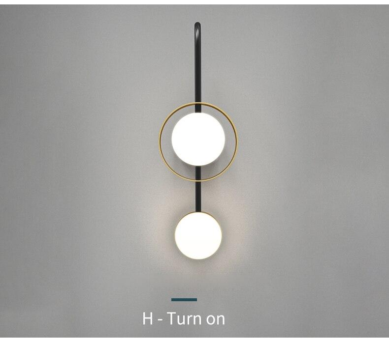 Fss moderno ouro lâmpada de parede led