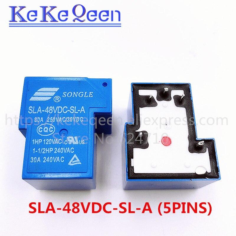 Реле питания SLA-05VDC-SL-A SLA-12VDC-SL-A SLA-24VDC-SL-A 5В 12В 24В 48В 30А 5PIN T90 a группа нормально открывающихся