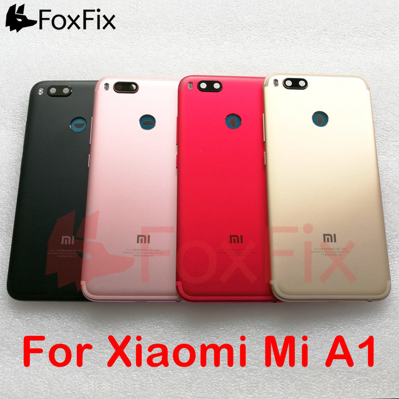 Back Housing For <font><b>Xiaomi</b></font> <font><b>Mi</b></font> A1 <font><b>Battery</b></font> <font><b>Cover</b></font> Rear Door Case Chassis Replace For <font><b>Xiaomi</b></font> <font><b>Mi</b></font> A1 <font><b>Battery</b></font> <font><b>Cover</b></font> Black/Gold/Pink/Red image