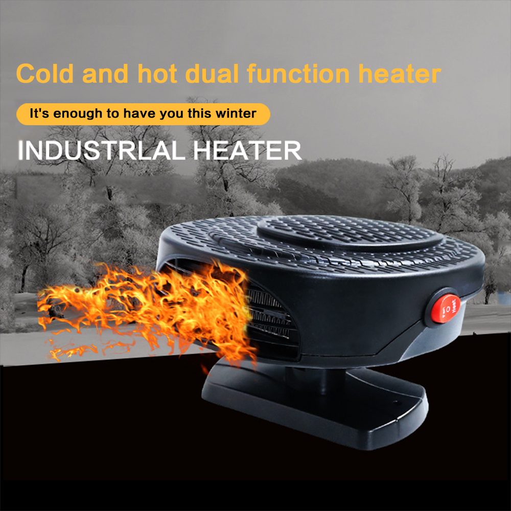 Winter Car Heater 12V Vehicle Heater Cold Warm Air Defrosting Snow Defogger Auto Small Appliances Car Accessories Black