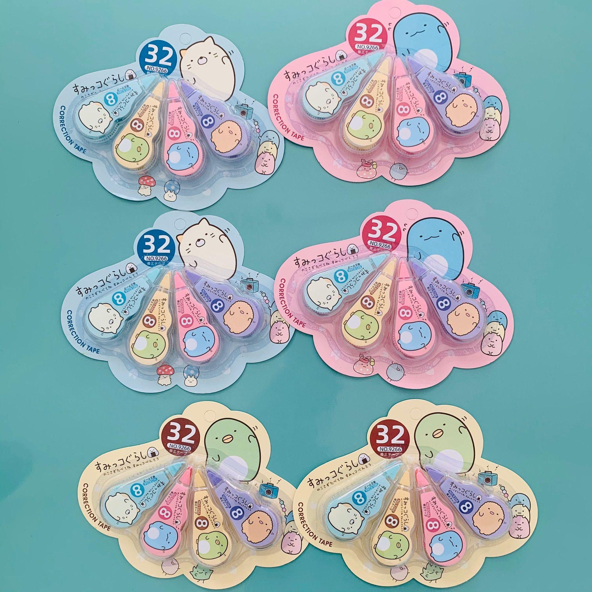 4Pcs/Lot Kawaii Sumikko Gurashi Correction Tapes Cartoon Corrector Tools For Kids Gifts Supplies Stationery