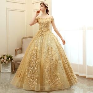 Image 2 - גברת Win Quinceanera שמלת 2020 חדש יוקרה המפלגה לנשף כדור שמלת וינטג תחרה Quinceanera שמלות Vestido דה Quincenera בתוספת גודל