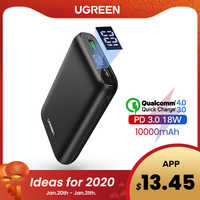 Ugreen power bank 10000 mah carga rápida 4.0 3.0 qc3.0 bateria móvel externo rápido pd carregador para iphone 11 8 xs mini powerbank